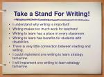 take a stand for writing