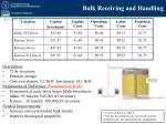 bulk receiving and handling