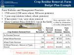 crop residue removal farm budget plan example