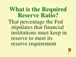 what is the required reserve ratio