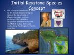 initial keystone species concept