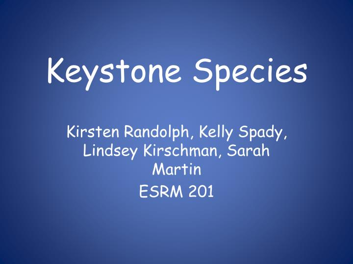 keystone species n.