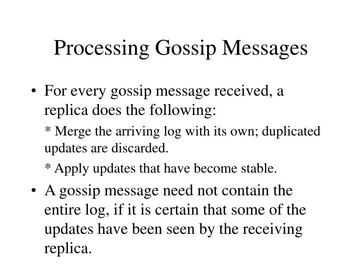 Processing Gossip Messages
