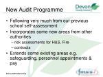 new audit programme
