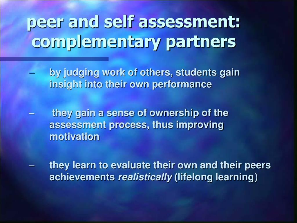 peer and self assessment