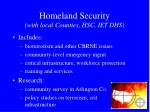 homeland security with local counties hsc iet dhs