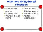 alverno s ability based education