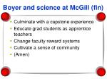 boyer and science at mcgill fin