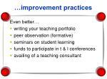 improvement practices