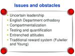 issues and obstacles