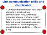 link communication skills and coursework