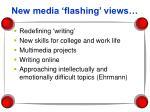 new media flashing views