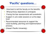 pacific questions