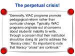 the perpetual crisis