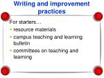 writing and improvement practices