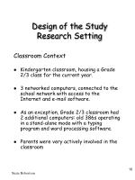 design of the study research setting10