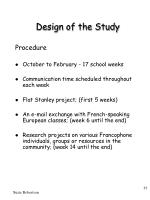 design of the study11