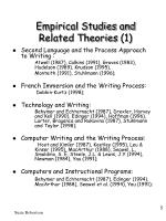 empirical studies and related theories 1