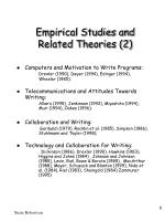 empirical studies and related theories 2