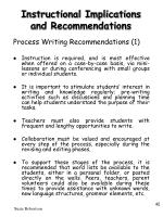 instructional implications and recommendations