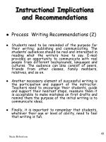 instructional implications and recommendations43
