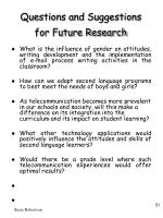 questions and suggestions for future research