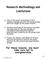 research methodology and limitations