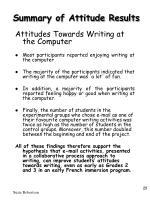 summary of attitude results29