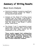 summary of writing results