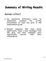 summary of writing results41