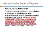 assault in the second degree1