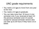 unc grade requirements