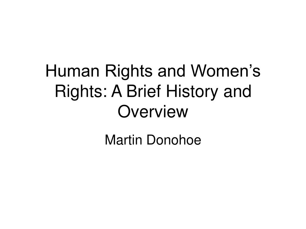 human rights and women s rights a brief history and overview l.
