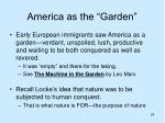 america as the garden