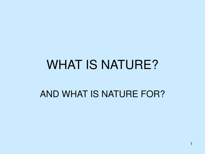 what is nature n.