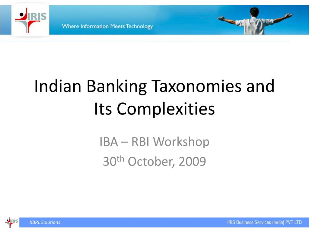 indian banking taxonomies and its complexities l.