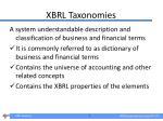 xbrl taxonomies