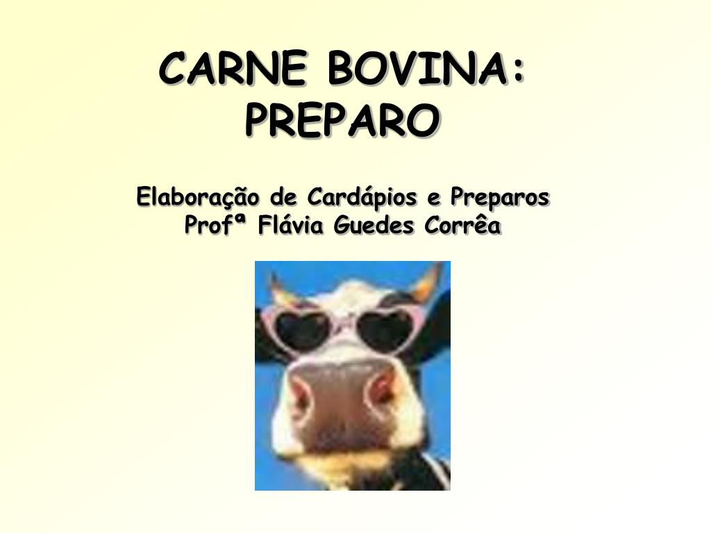 carne bovina preparo elabora o de card pios e preparos prof fl via guedes corr a l.
