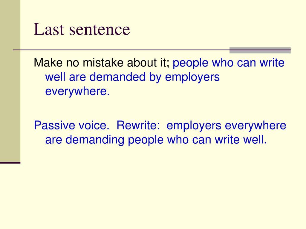 Last sentence