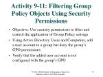 activity 9 11 filtering group policy objects using security permissions