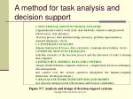 a method for task analysis and decision support1