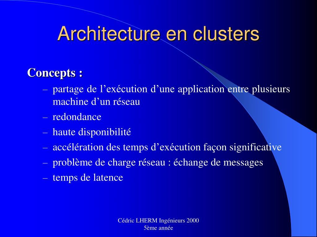 Architecture en clusters