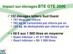 impact sur levages bte gte 2006