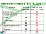 impact sur levages bte gte 200616