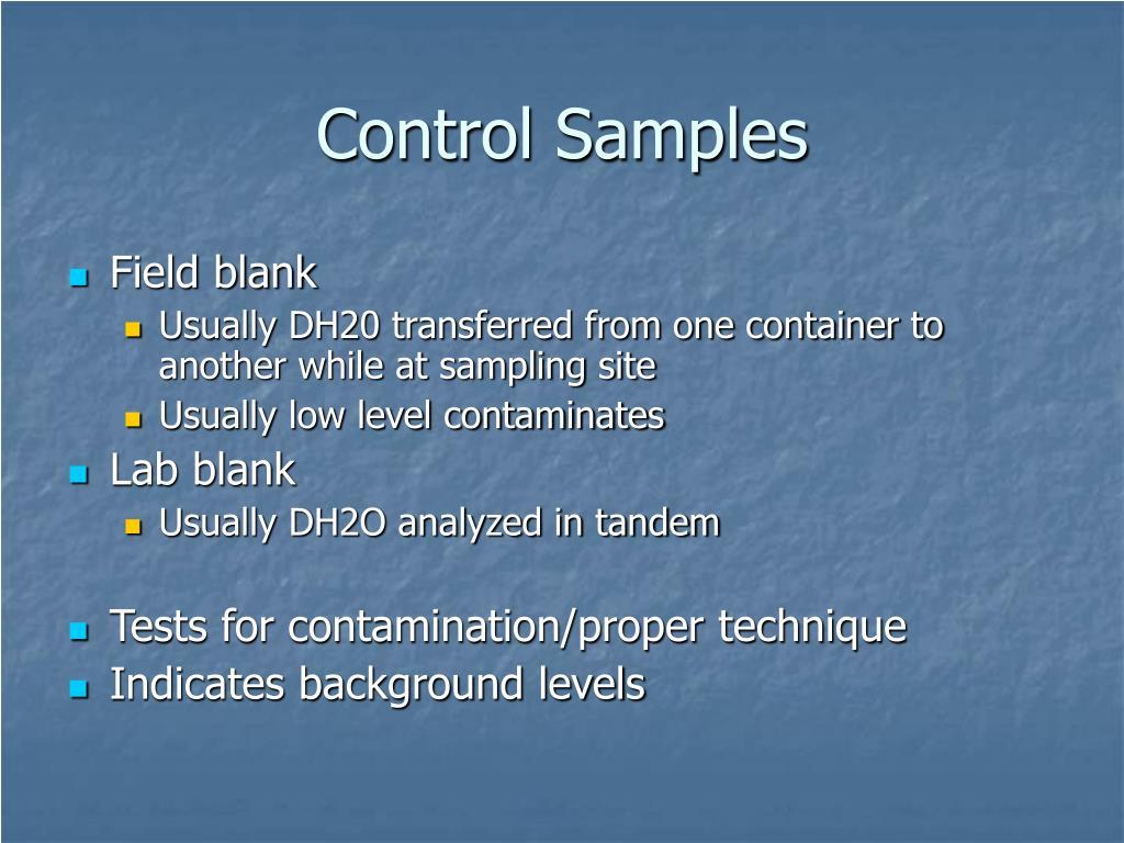 Control Samples
