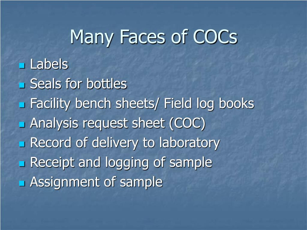 Many Faces of COCs