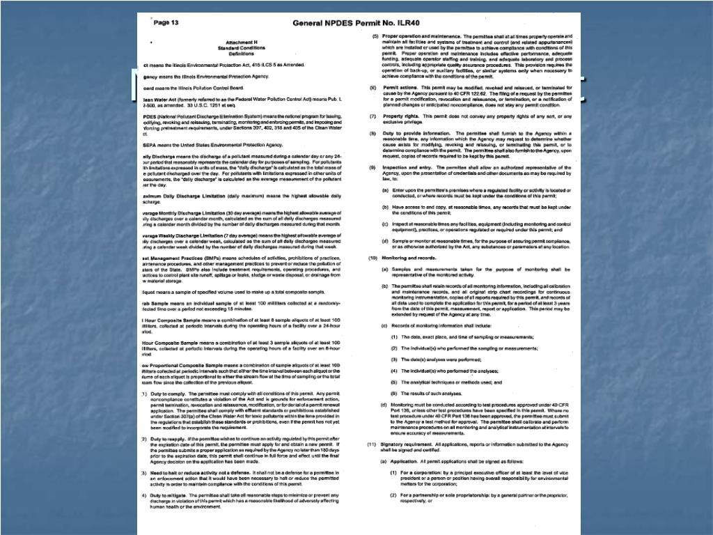 NPDES permit fine print
