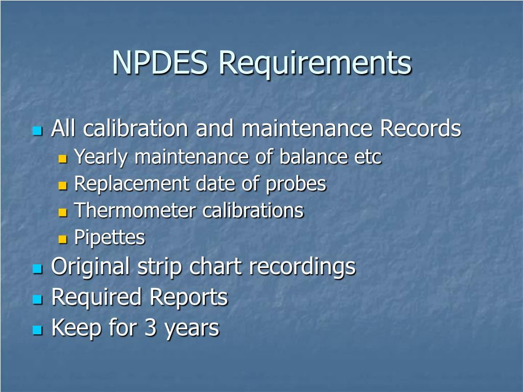 NPDES Requirements