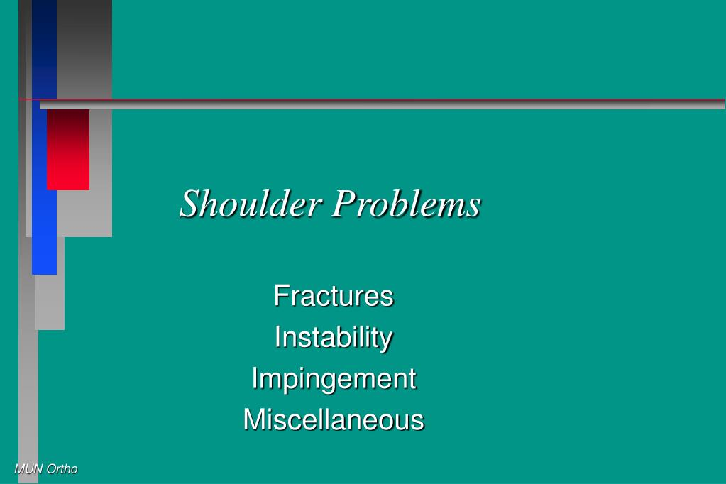 shoulder problems l.