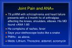 joint pain and ana
